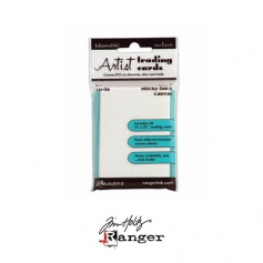 Ranger Tim Holtz Inkssentials Sticky Backed White Canvas ATC size