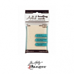 Ranger Tim Holtz Inkssentials Sticky Backed Natural Canvas ATC size