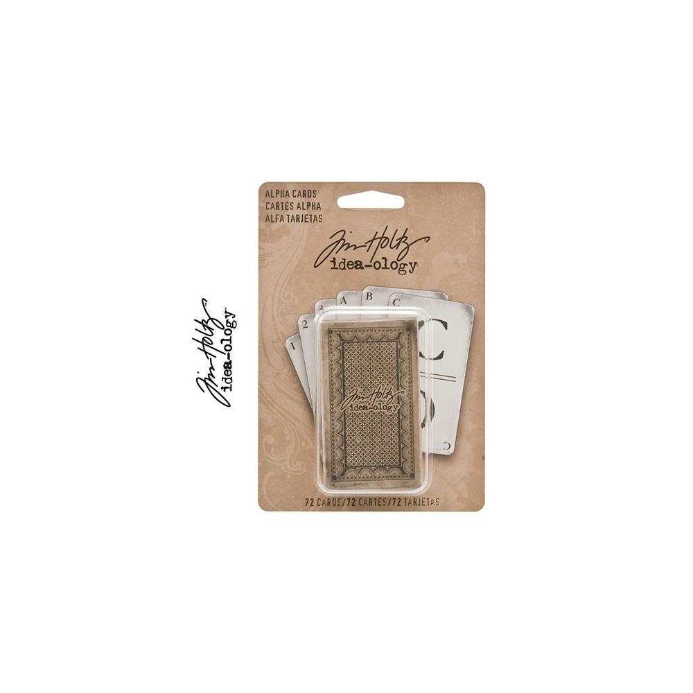 Tim Holtz Idea-ology Cardstock Alpha Cards