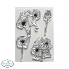Elizabeth Craft Designs Clear Stamps Poppy Dream