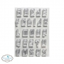 Elizabeth Craft Designs Clear Stamps Block Alphabet