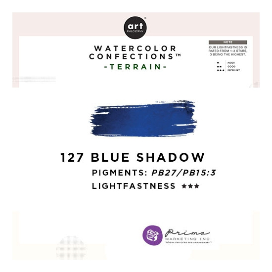 Prima Marketing Art Philosophy Refill Pan BLUE SHADOW 127 - Terrain Watercolor Confections