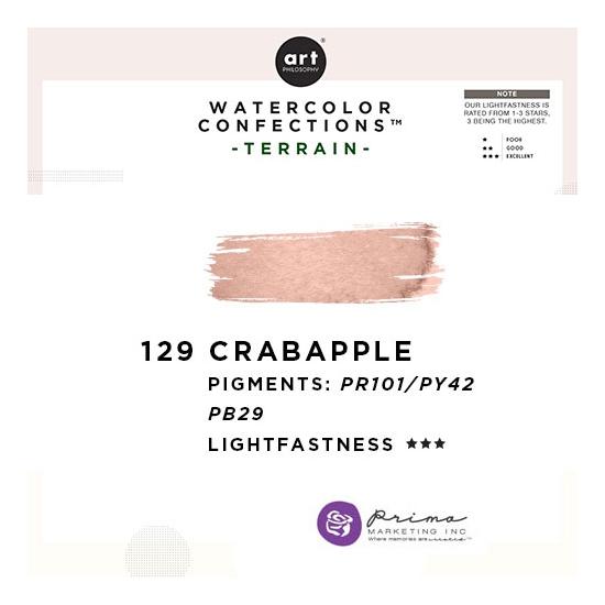 Prima Marketing Art Philosophy Refill Pan CRAB APPLE 129 - Terrain Watercolor Confections