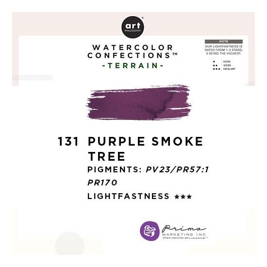 Prima Marketing Art Philosophy Refill Pan PURPLE SMOKE TREE 131 - Terrain Watercolor Confections