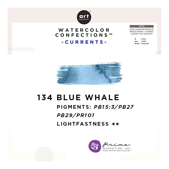 Prima Marketing Art Philosophy Refill Pan BLUE WHALE 134 - Currents Watercolor Confections