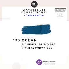 Prima Marketing Art Philosophy Refill Pan OCEAN 135 - Currents Watercolor Confections