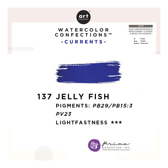 Prima Marketing Art Philosophy Refill Pan JELLYFISH 137 - Currents Watercolor Confections