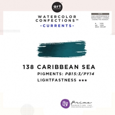 Prima Marketing Art Philosophy Refill Pan CARIBBEAN SEA 138 - Currents Watercolor Confections