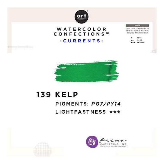 Prima Marketing Art Philosophy Refill Pan KELP 139 - Currents Watercolor Confections