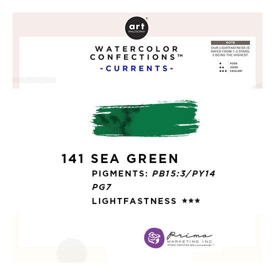 Prima Marketing Art Philosophy Refill Pan SEA GREEN 141 - Currents Watercolor Confections