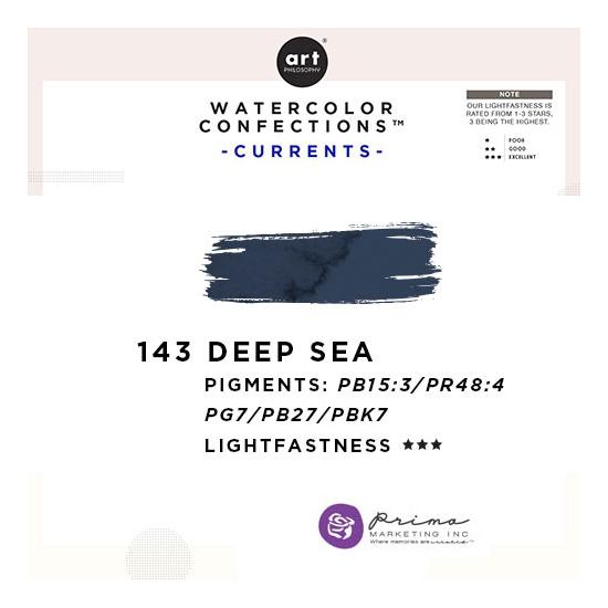 Prima Marketing Art Philosophy Refill Pan DEEP SEA 143 - Currents Watercolor Confections