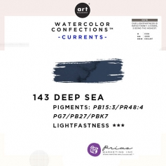 Prima Marketing Art Philosophy Refill Pan DEEP SEA 143 - Currents Watercolor Confections