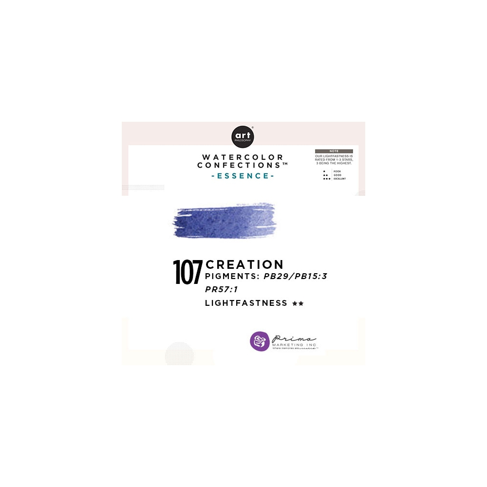 Prima Marketing Art Philosophy Refill Pan CREATION 107 - Essence Watercolor Confections