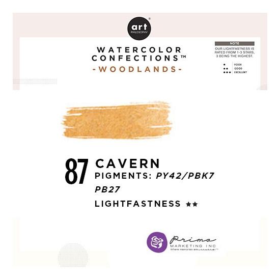 Prima Marketing Art Philosophy Refill Pan CAVERN 87 - Woodlands Watercolor Confections