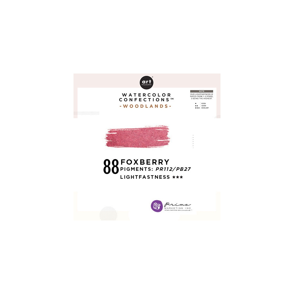 Prima Marketing Art Philosophy Refill Pan FOXBERRY 88 - Woodlands Watercolor Confections