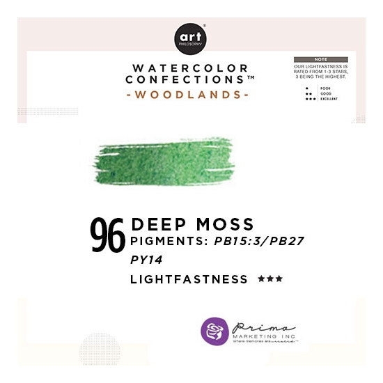 Prima Marketing Art Philosophy Refill Pan DEEP MOSS 96 - Woodlands Watercolor Confections