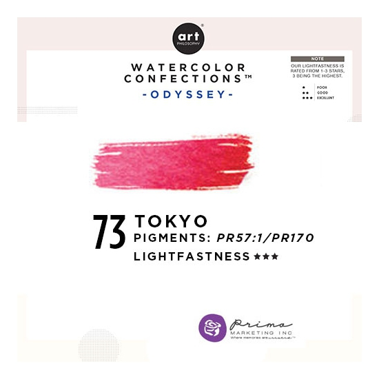 Prima Marketing Art Philosophy Refill Pan TOKYO 73 - Odyssey Watercolor Confections