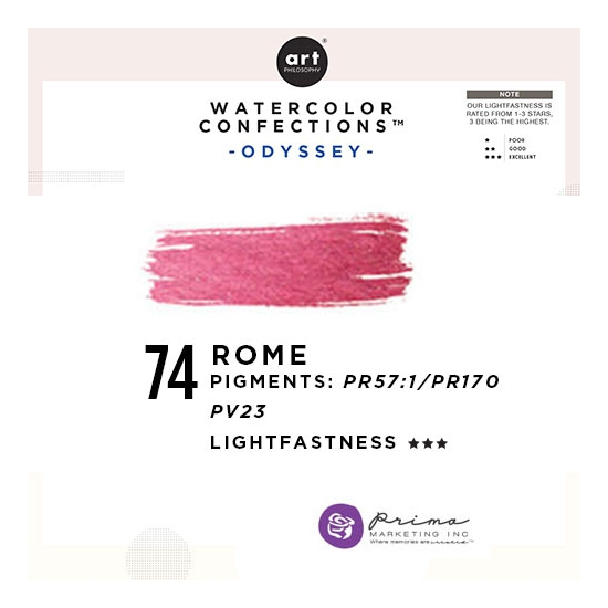 Prima Marketing Art Philosophy Refill Pan ROME 74 - Odyssey Watercolor Confections
