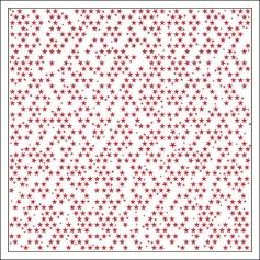 Bella Blvd Transparency Sheet Clear Cut Red Stars Clear Cuts