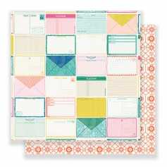 Crate Paper Paper Sheet Postcards Here and There Collection