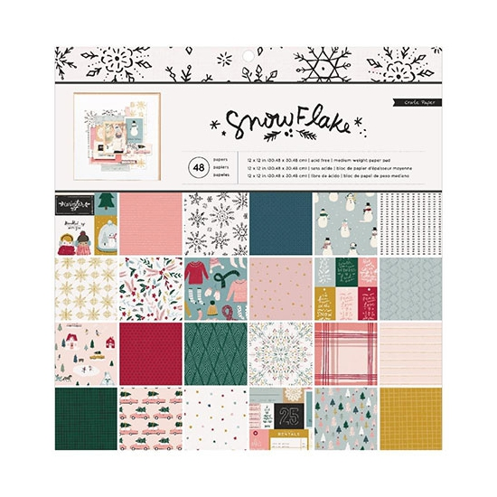 Crate Paper Paper Pad 12 x 12 inch Snowflake Collection