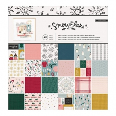 Crate Paper Paperpad 12 x 12 inch Snowflake Collection