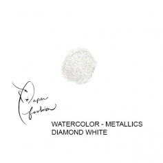 American Crafts Paper Fashion Watercolors Metallics Refill Pan Diamond White