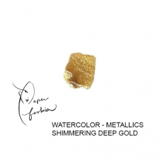 American Crafts Paper Fashion Watercolors Metallics Refill Pan Shimmering Deep Gold