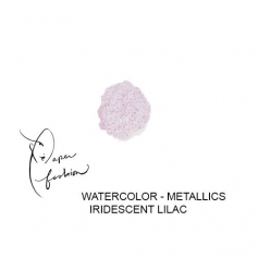 American Crafts Paper Fashion Watercolors Metallics Refill Pan Irridescent Magenta