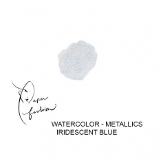 American Crafts Paper Fashion Watercolors Metallics Refill Pan Iridescent Blue