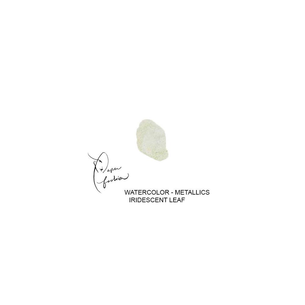 American Crafts Paper Fashion Watercolors Metallics Refill Pan Iridescent Leaf
