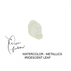 American Crafts Paper Fashion Watercolors Metallics Refill Pan Iridescent Leaf