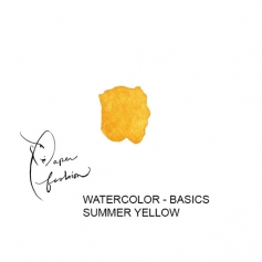 American Crafts Paper Fashion Watercolors Basics Refill Pan Summer Yellow