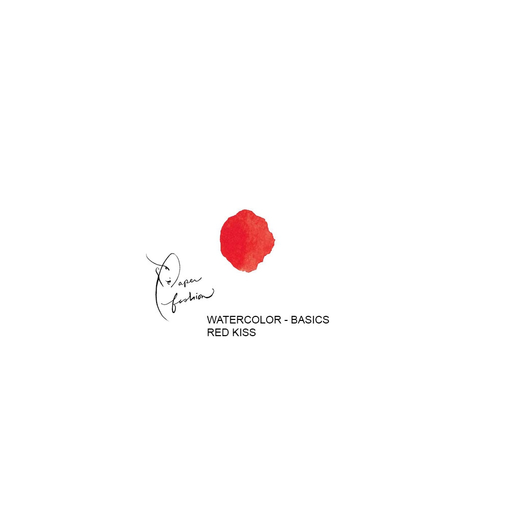 American Crafts Paper Fashion Watercolors Basics Refill Pan Red Kiss