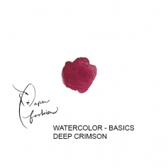 American Crafts Paper Fashion Watercolors Basics Refill Pan Deep Crimson