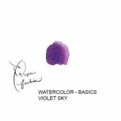 American Crafts Paper Fashion Watercolors Basics Refill Pan Violet Sky