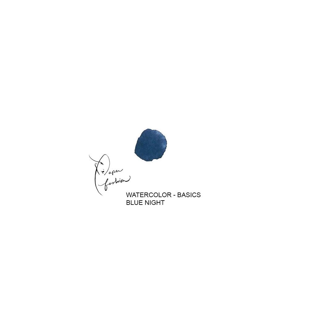 American Crafts Paper Fashion Watercolors Basics Refill Pan Blue Night