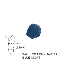 American Crafts Paper Fashion Watercolors Basics Refill Pan Blue Night