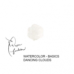 American Crafts Paper Fashion Watercolors Basics Refill Pan Dancing Clouds
