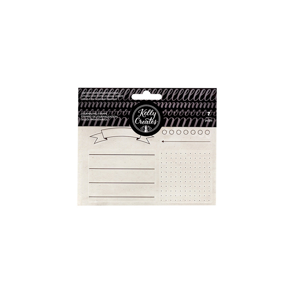 American Crafts Kelly Creates Clear Journaling Stamps