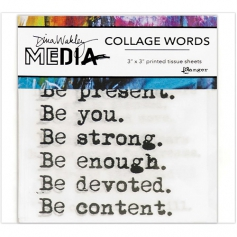 Ranger Dina Wakley Media Printed Tissue Collage Words