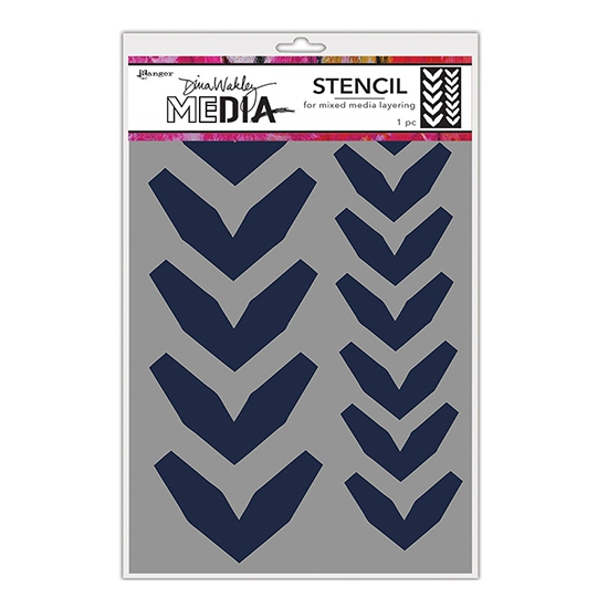 Ranger Dina Wakley Media Stencil Large Fractured Chevrons