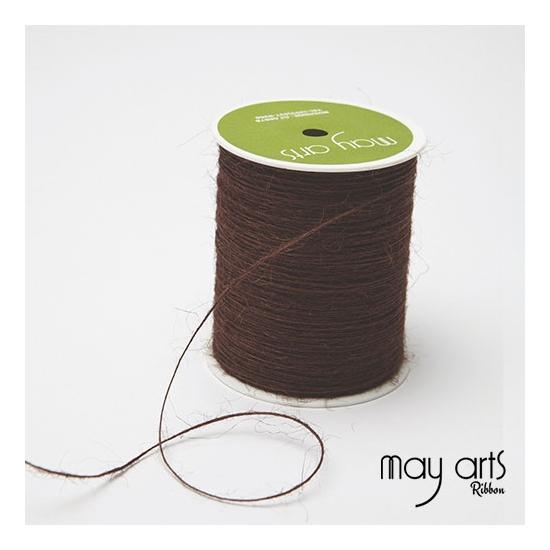 May Arts Jute Burlap String Cord Ribbon Brown