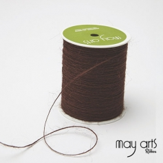 May Arts Jute Burlap String Cord Ribbon Brown