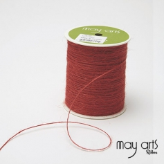 May Arts Jute Burlap String Cord Ribbon Bitter Sweet