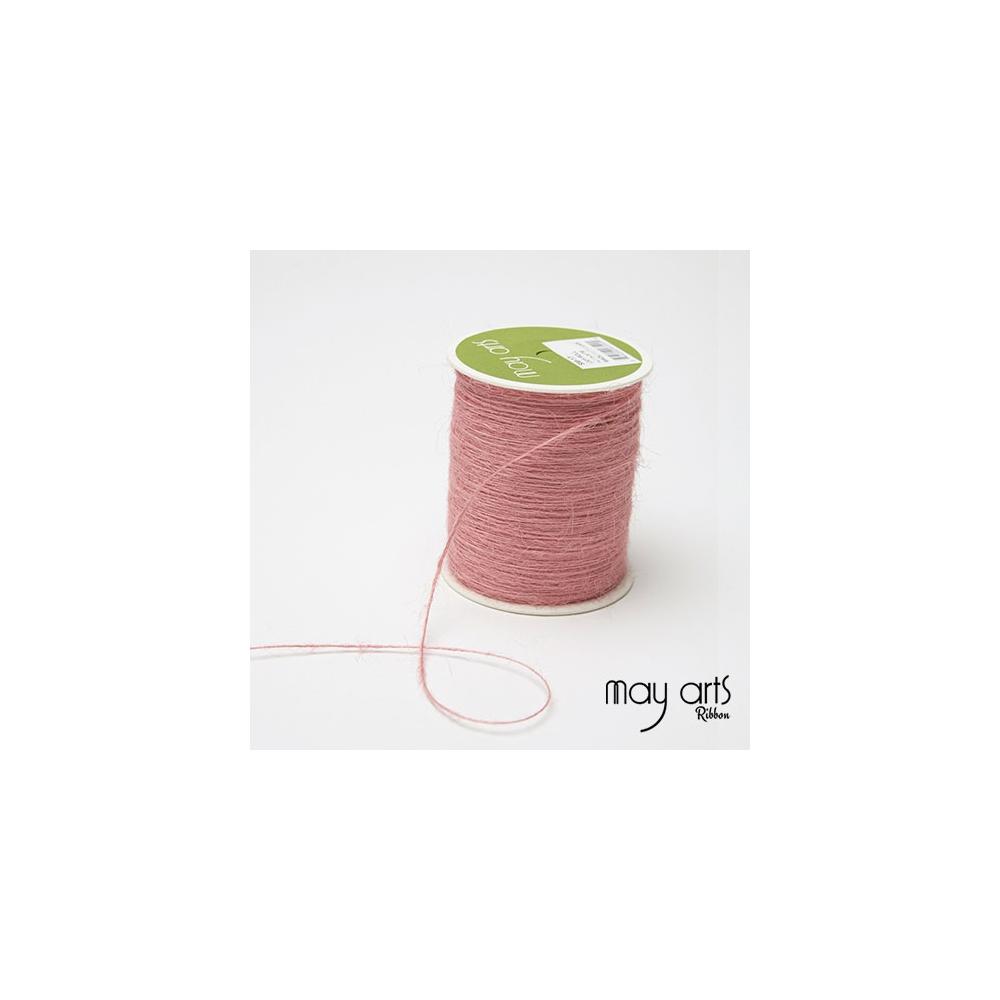 May Arts Jute Burlap String Cord Ribbon Pink