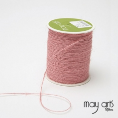 May Arts Jute Burlap String Cord Ribbon Pink