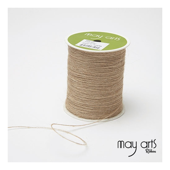 May Arts Jute Burlap String Cord Ribbon Natural