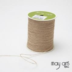 May Arts Jute Burlap String Cord Ribbon Natural