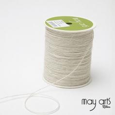 May Arts Jute Burlap String Cord Ribbon Ivory